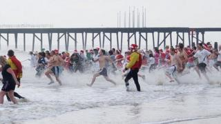 Christmas Day swim at Lowestoft