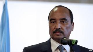 Mauritanian President Mohamed Ould Abdel Aziz (file photo)