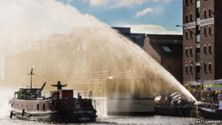 Massey Shaw fireboat at Gloucester Docks