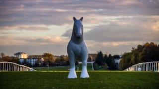 Horse sculpture at Hamilton racecourse