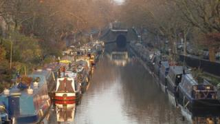 Canal boats in Little Venice