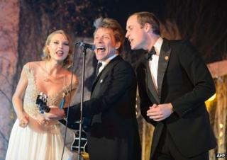 Taylor Swift, Jon Bon Jovi and Prince William