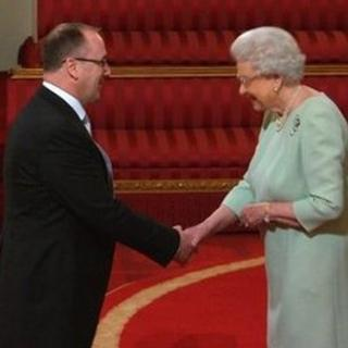 David Christian received MBE from the Queen