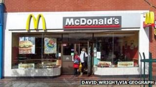 McDonald's on the High Street in Scunthorpe