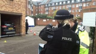 Police at car park near Gloucester Quay