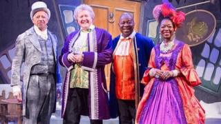 Derek Griffiths, Iain Lauchlan with Fingerbob, Dave Benson-Phillips and Baroness Floella Benjamin