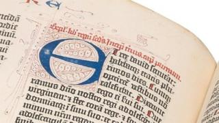 Detail from the Bodleian's Gutenberg Bible