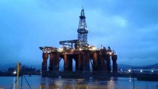 Oil rig in Belfast