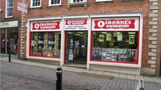 Osbornes Stationers, Mealcheapen Street, Worcester