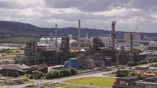 The Lotte Chemical T8 plant