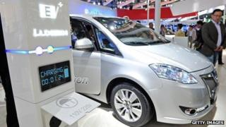 Dongfeng electric car on display