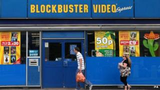 Blockbuster shopfront
