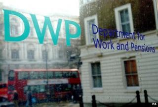 DWP sign