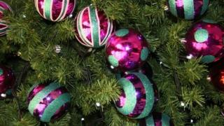 Baubles on a tree