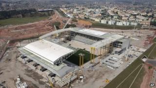 The new Arena Corinthians, or Itaquerao, on 3 Dec 2013