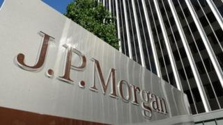 JP Morgan sign outside building