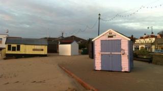 Beach huts at Felixstowe
