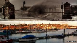 Whitby before and after the flood