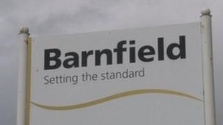 Barnfield Federation sign