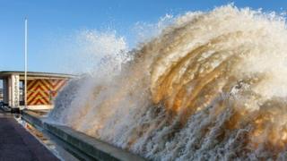 Lowestoft storm by David Spalding