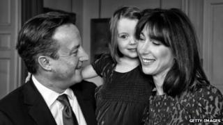 David Cameron, his wife Samantha and daughter Florence pictured in the No 10 Christmas card