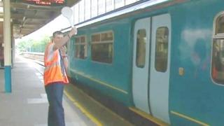 Rail station worker