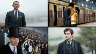Skyfall, Slumdog Millionaire, The Woman In Black and The King's Speech