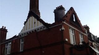 Fire at Ewell Court House