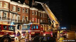 Fire in Littlehampton flats