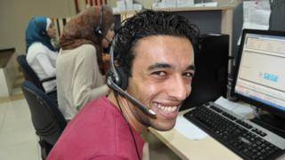 Staff at the call centre in Bethlehem
