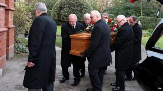 Coffin of Bill Foulkes