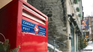 Canada Post box in Quebec