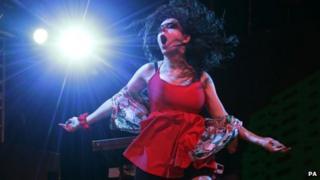 Charli XCX on stage