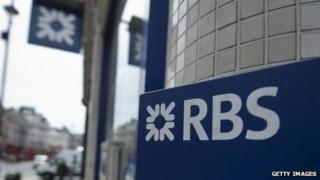 RBS logo on store