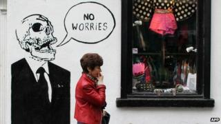 Bailout graffiti in Temple Bar