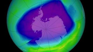 The ozone hole in 2006 was very large, but scientsits think the weather was the driving force