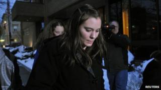 Jordan Graham left a US District Court in Missoula, Montana, on 11 December 2013