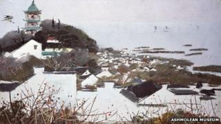 Wuxu and Lake Tai by Wu Guanzhong (1973)