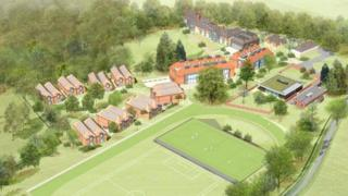 Artist's impression of the boarding school on the Durand Academy site