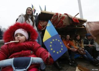 Protesters in Kiev, 13 December