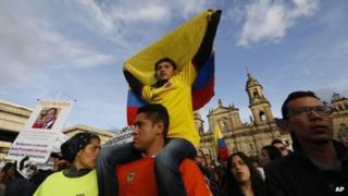 Pro-Petro demo in Bogota