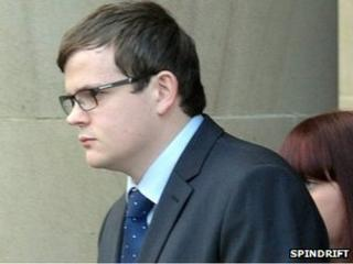 Craig Tilbury leaves the High Court in Glasgow