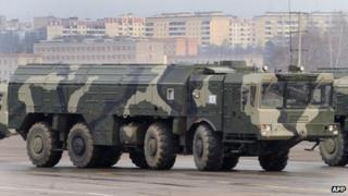 Russian Iskander missile launcher