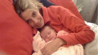 Pippa Saralis-Wheatley and baby Martha