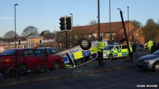 Rochdale crash scene
