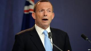 Australian Prime Minister Tony Abbott speaks during a press conference in Sydney on 16 December 2013