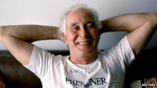 Great Train Robber Ronnie Biggs is seen posing for a photograph in Brazil in this September 1992 file photograph