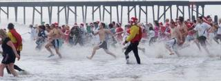 Christmas Day swim at Lowestoft