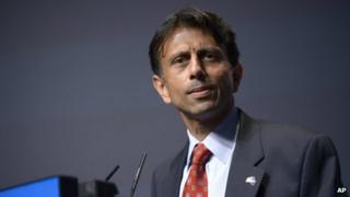 Louisiana Gov Bobby Jindal appeared in Orlando, Florida, on 30 August 2013