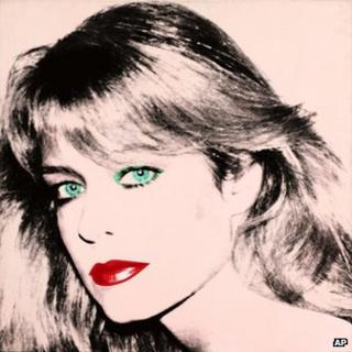"""This photo released by courtesy of the Blanton Museum of Art shows Andy Warhol's painting of """"Farrah Fawcett,"""" 1980"""